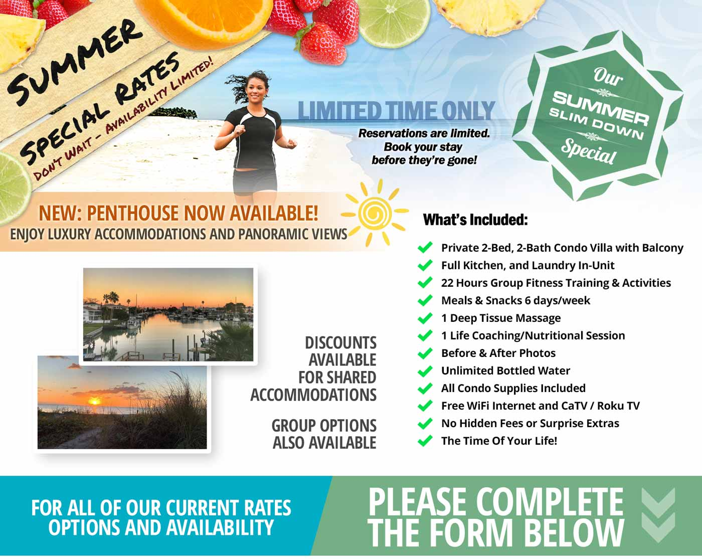 Limited time special rates for spring.