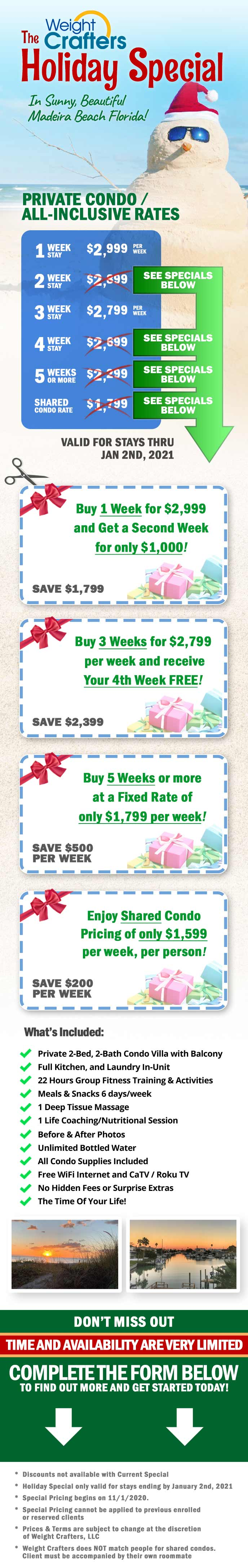 Limited time special rates for the holidays.