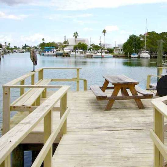 After an exhaustingly fun day, our weight loss camp clients may opt to enjoy the dock overlooking the marina - or explore the beach just across the street.
