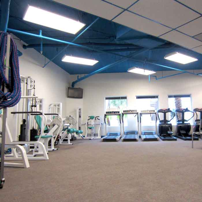 Our wide-open fitness center, ready for a new day of exercise and activity at Weight Crafters.
