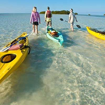weight crafters fitness camp clients enjoy a trip in kayaks