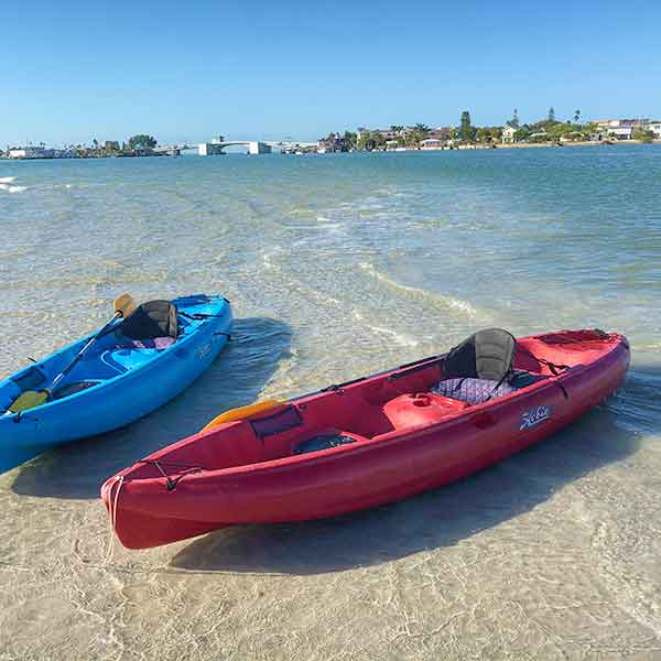 When the weather is right, our weight loss camp clients enjoy kayaking on the intercoastal waters just off the Gulf Coast. Dolphins are a regular sight, as are manatees and a variety of sea birds.