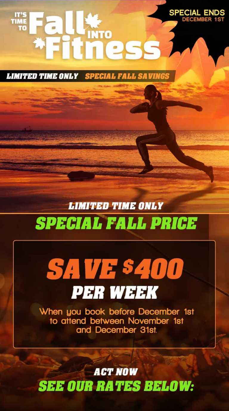 Affordable Weight Loss Camp just got even better! Save today before it's gone!