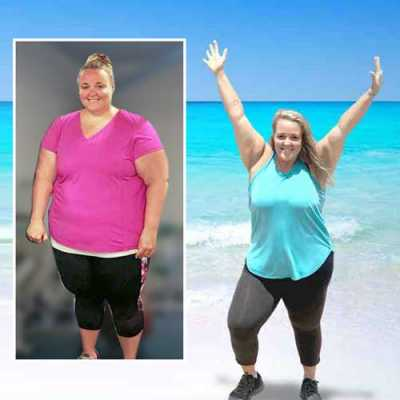 Before and after weight loss camp transformation at Weight Crafters.